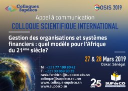 APPEL A COMMUNICATION | COLLOQUE SCIENTIFIQUE INTERNATIONAL DE SUP DE CO (...)
