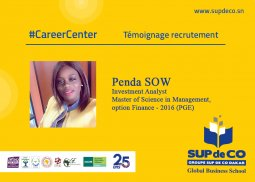 #CareerCenter Témoignage recrutement : Penda SOW Investment Analyst chez le (...)