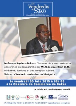 The Group receives SupdeCo Dakar Abdoulaye Diouf Sarr, Minister of Tourism (...)